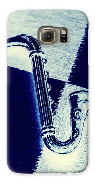 Trumpet Galaxy S6 Case - Retro Blues by Jorgo Photography - Wall Art Gallery