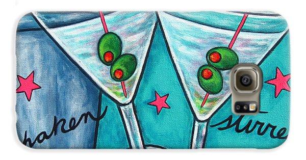 Retro Martini Galaxy S6 Case by Lisa  Lorenz