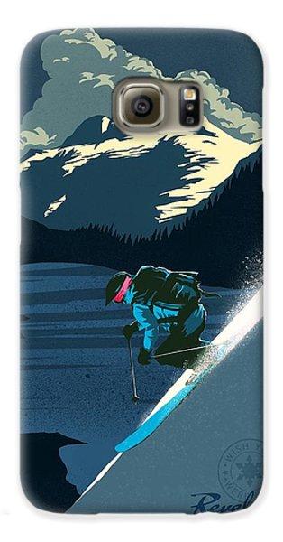 Mount Rushmore Galaxy S6 Case - Retro Revelstoke Ski Poster by Sassan Filsoof