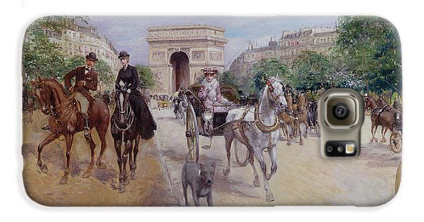 Riders And Carriages On The Avenue Du Bois Galaxy S6 Case
