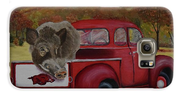 Ridin' With Razorbacks Galaxy S6 Case by Belinda Nagy