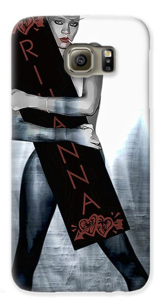 Rihanna Love Card By Gbs Galaxy S6 Case by Anibal Diaz