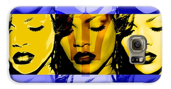 Rihanna Warhol Barbados By Gbs Galaxy S6 Case by Anibal Diaz