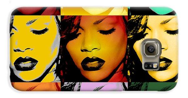 Rihanna Warhol By Gbs Galaxy S6 Case by Anibal Diaz