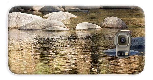 Galaxy S6 Case featuring the photograph Ripples And Rocks by Linda Lees