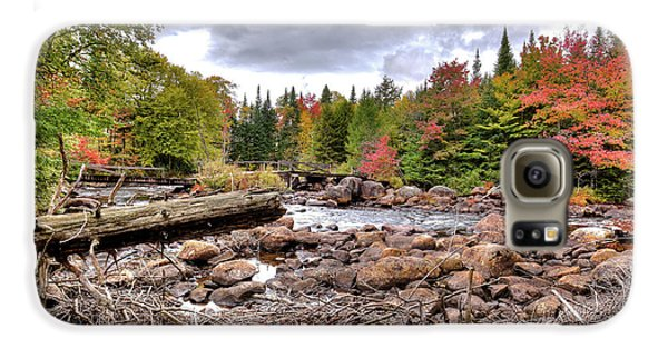 Galaxy S6 Case featuring the photograph River Debris At Indian Rapids by David Patterson