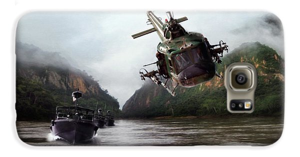 Helicopter Galaxy S6 Case - River Patrol by Peter Chilelli