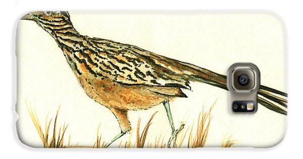 Roadrunner Bird Galaxy S6 Case by Juan Bosco