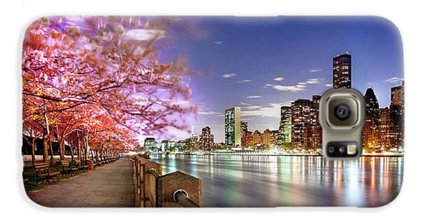 Empire State Building Galaxy S6 Case - Romantic Blooms by Az Jackson