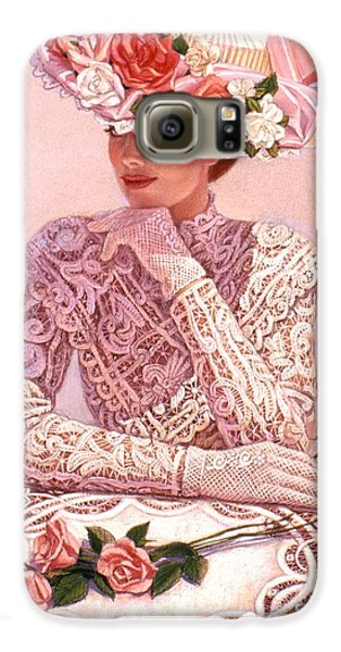 Rose Galaxy S6 Case - Romantic Lady by Sue Halstenberg