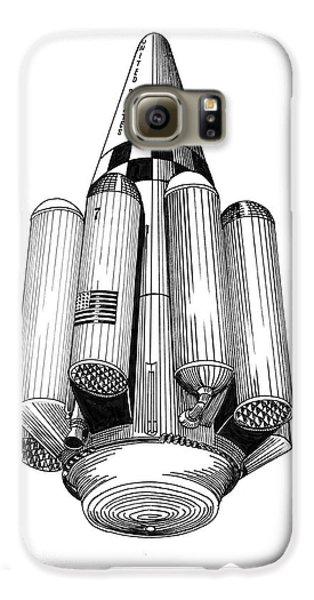 Rombus Heavey Lift Reusable Rocket Galaxy S6 Case by Jack Pumphrey