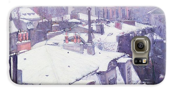 Roofs Under Snow Galaxy S6 Case by Gustave Caillebotte