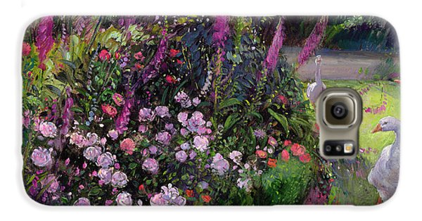 Rose Bed And Geese Galaxy S6 Case by Timothy Easton