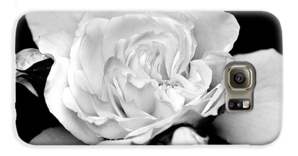 Galaxy S6 Case featuring the photograph Rose Black And White by Christina Rollo