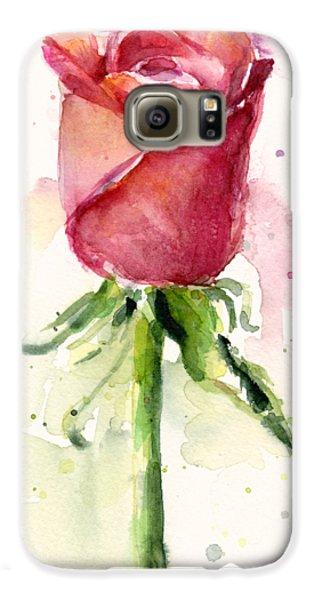 Rose Watercolor Galaxy S6 Case by Olga Shvartsur