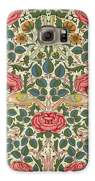 Rose Galaxy S6 Case by William Morris