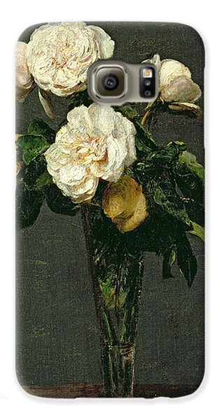 Rose Galaxy S6 Case - Roses In A Champagne Flute by Ignace Henri Jean Fantin-Latour