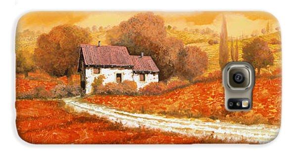 Landscape Galaxy S6 Case - Rosso Papavero by Guido Borelli