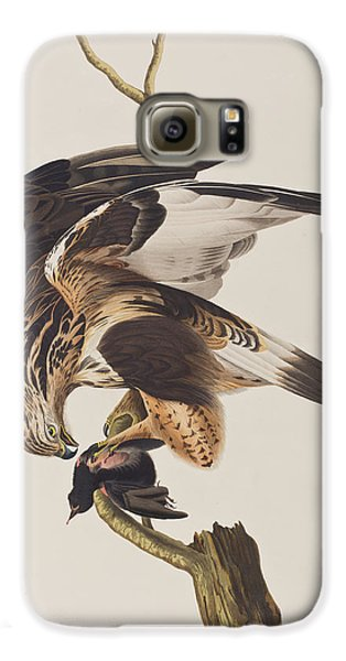 Rough Legged Falcon Galaxy S6 Case by John James Audubon