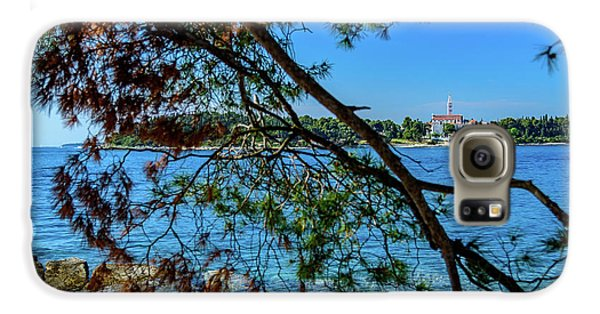 Rovinj Old Town Accross The Adriatic Through The Trees Galaxy S6 Case
