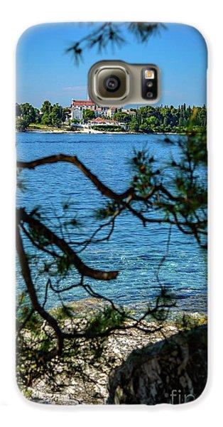 Rovinj Seaside Through The Adriatic Trees, Istria, Croatia Galaxy S6 Case