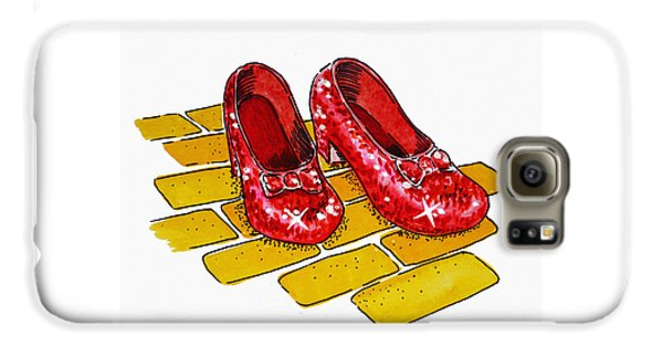Wizard Galaxy S6 Case - Ruby Slippers The Wizard Of Oz  by Irina Sztukowski