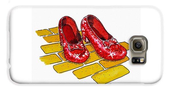Wizard Galaxy S6 Case - Ruby Slippers The Wizard Of Oz  by Irina Sztukowski
