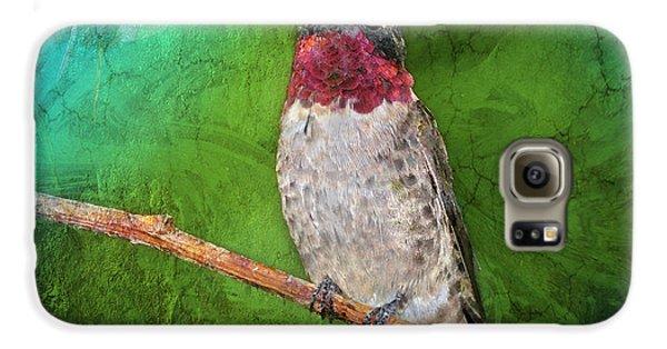 Ruby Throated Hummingbird Galaxy S6 Case