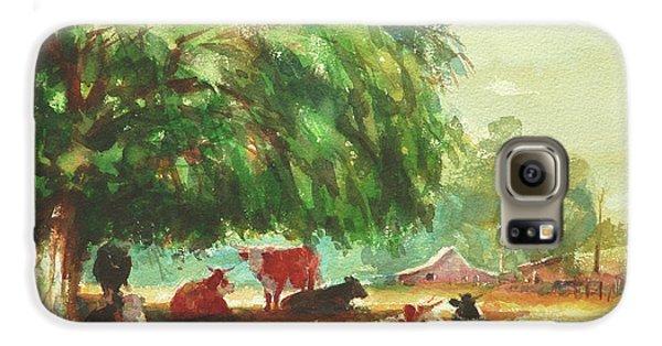 Cow Galaxy S6 Case - Rumination by Steve Henderson