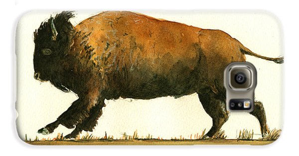 Running American Buffalo Galaxy S6 Case by Juan  Bosco