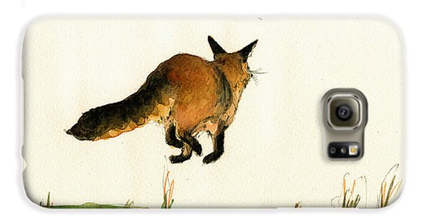 Running Fox Painting Galaxy S6 Case