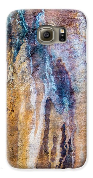 Galaxy S6 Case featuring the photograph Runoff Abstract, Bhimbetka, 2016 by Hitendra SINKAR