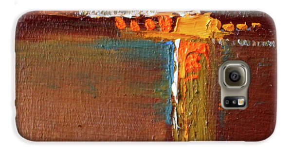 Galaxy S6 Case featuring the painting Rust Abstract Painting by Nancy Merkle