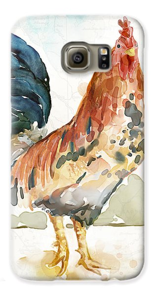 Chicken Galaxy S6 Case - Rust Rooster by Mauro DeVereaux