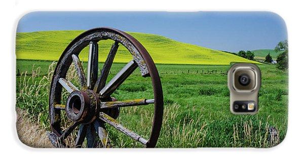 Rustic Wagon Wheel In The Palouse Galaxy S6 Case