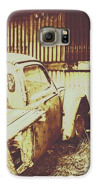 Truck Galaxy S6 Case - Rusty Pickup Garage by Jorgo Photography - Wall Art Gallery