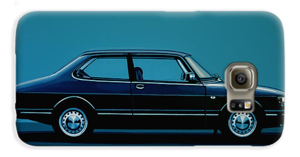 Car Galaxy S6 Case - Saab 90 1985 Painting by Paul Meijering