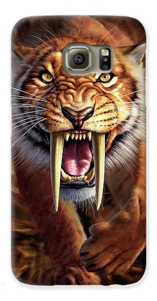 Lion Galaxy S6 Case - Sabertooth by Jerry LoFaro