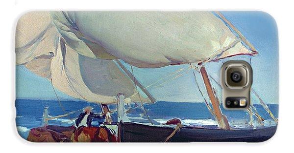 Boat Galaxy S6 Case - Sailing Boats by Joaquin Sorolla y Bastida