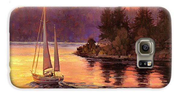 Seattle Galaxy S6 Case - Sailing On The Sound by Steve Henderson