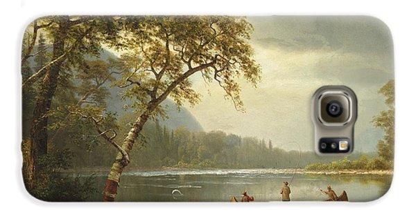 Salmon Fishing On The Caspapediac River Galaxy S6 Case by Albert Bierstadt