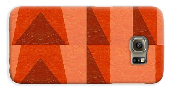 Galaxy S6 Case featuring the painting Salmon With Red And Brown by Michelle Calkins