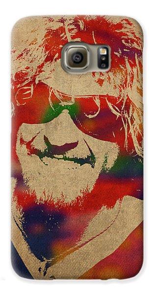 Van Halen Galaxy S6 Case - Sammy Hagar Van Halen Watercolor Portrait by Design Turnpike