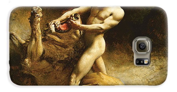 Samson's Youth Galaxy S6 Case by Leon Joseph Florentin Bonnat