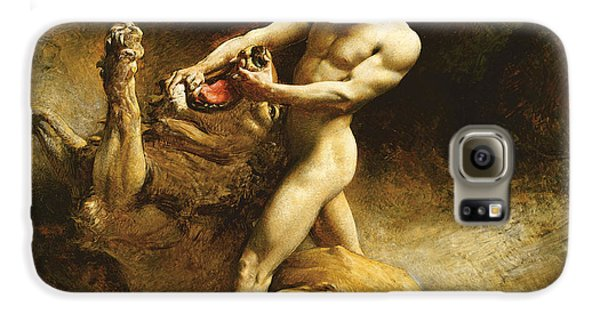 Largemouth Bass Galaxy S6 Case - Samson's Youth by Leon Joseph Florentin Bonnat