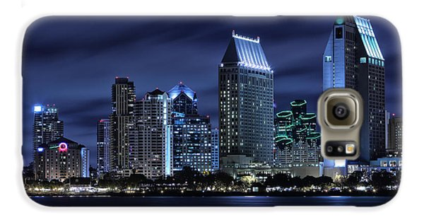 Skylines Galaxy S6 Case - San Diego Skyline At Night by Larry Marshall
