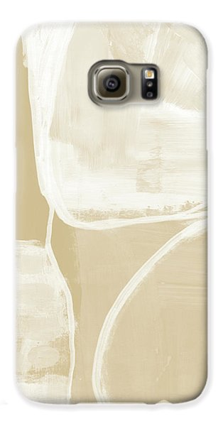 Camel Galaxy S6 Case - Sand And Stone 5- Contemporary Abstract Art By Linda Woods by Linda Woods