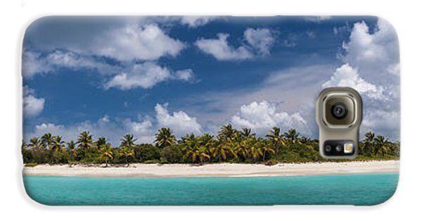 Galaxy S6 Case featuring the photograph Sandy Cay Beach British Virgin Islands Panoramic by Adam Romanowicz