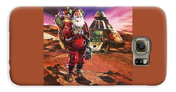 Santa Claus On Mars Galaxy S6 Case by English School