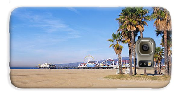 Santa Monica Beach Ca Galaxy S6 Case by Panoramic Images